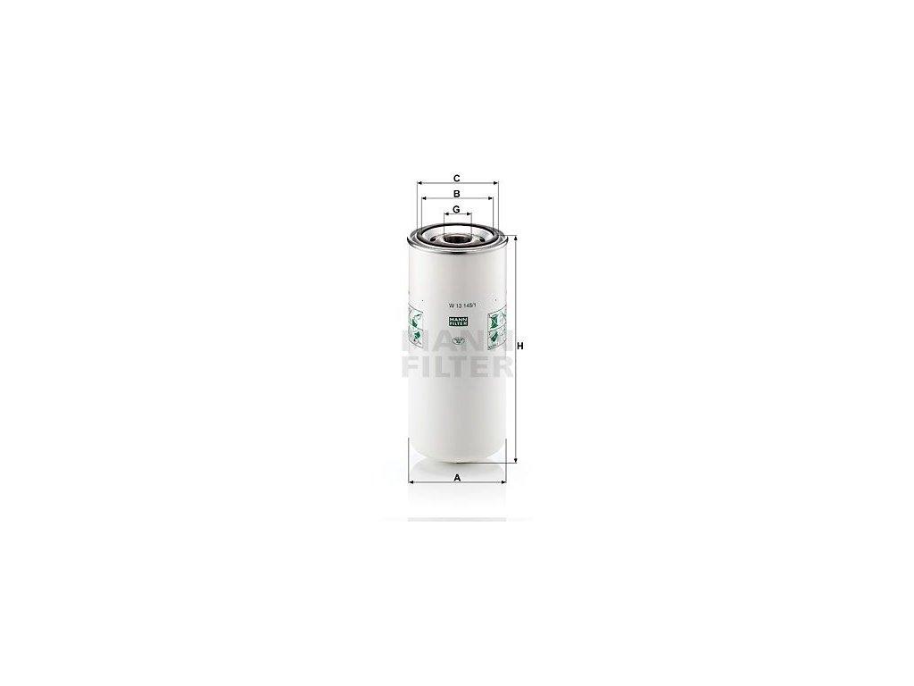 Olejový filtr MANN-FILTER W 13 145/1