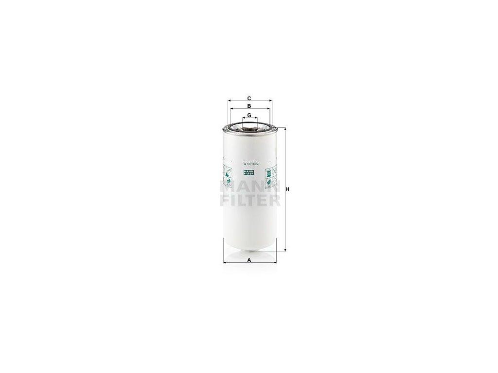 Olejový filtr MANN-FILTER W 13 145/3