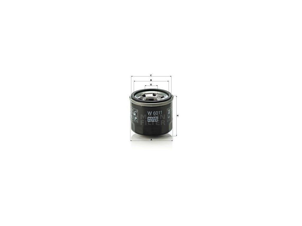 Olejový filtr MANN-FILTER W 6011