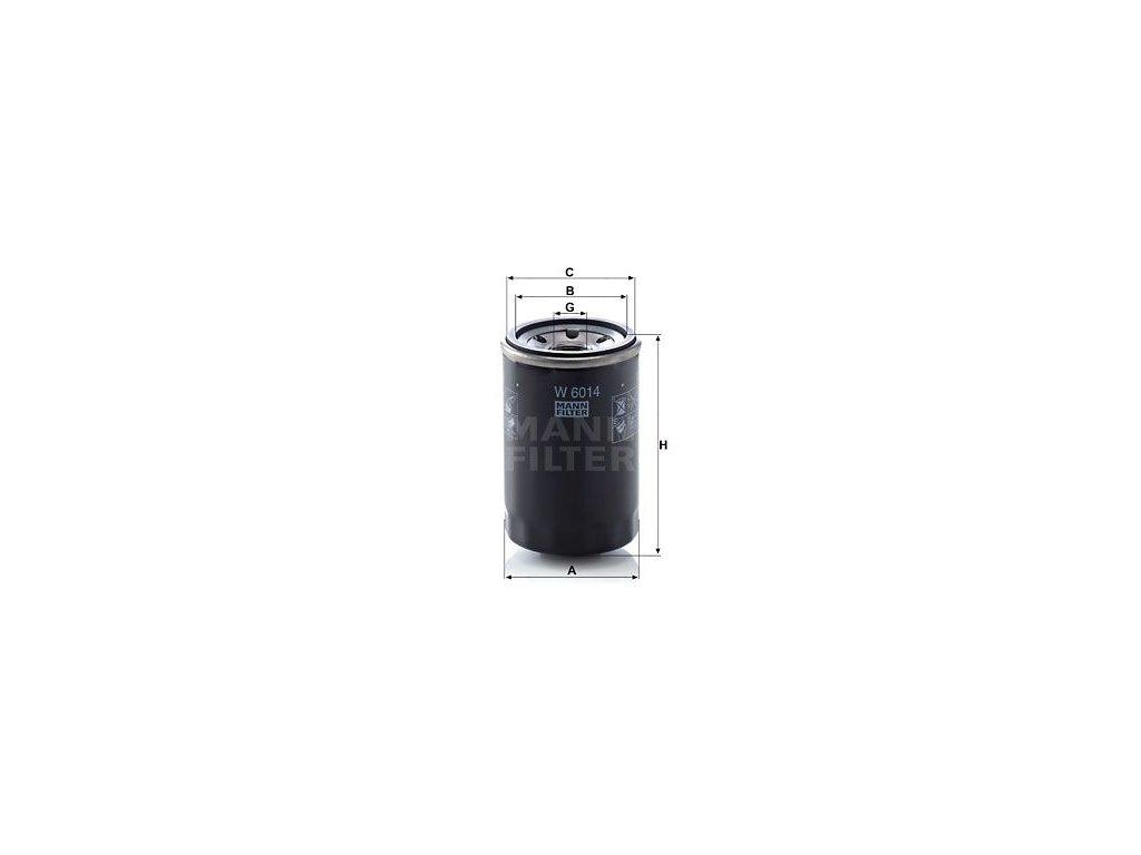 Olejový filtr MANN-FILTER W 6014