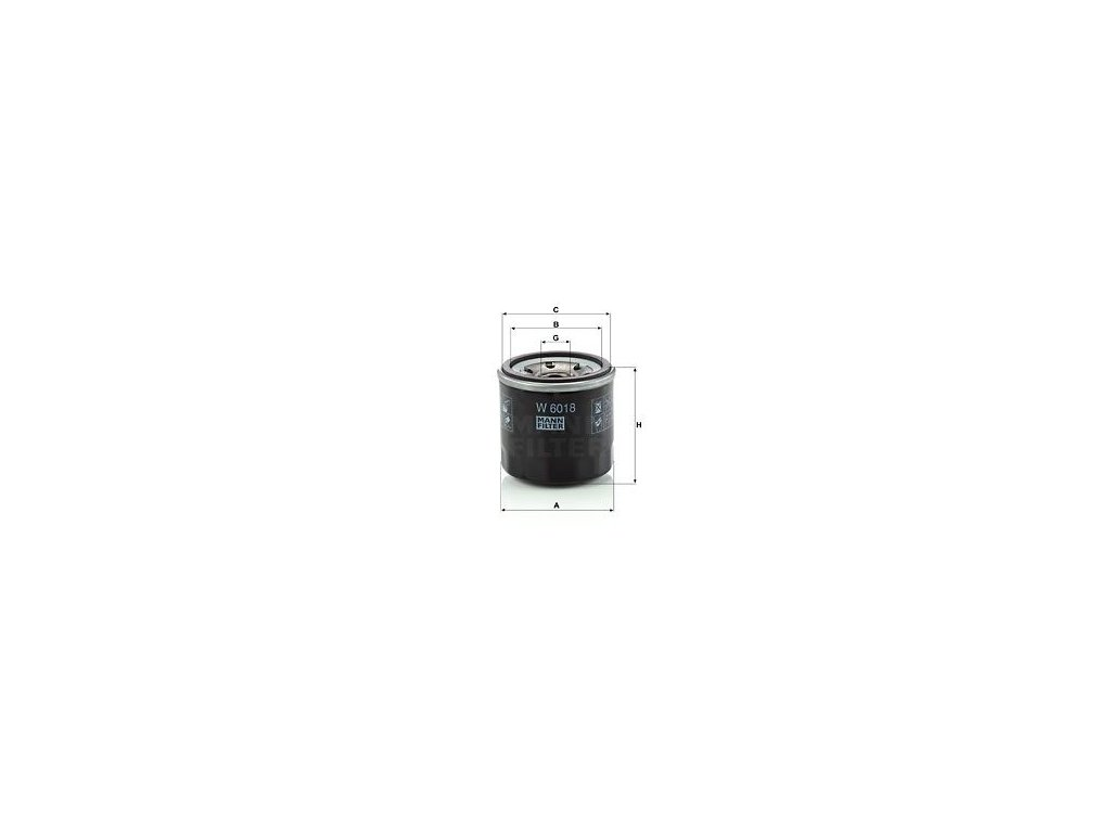 Olejový filtr MANN-FILTER W 6018