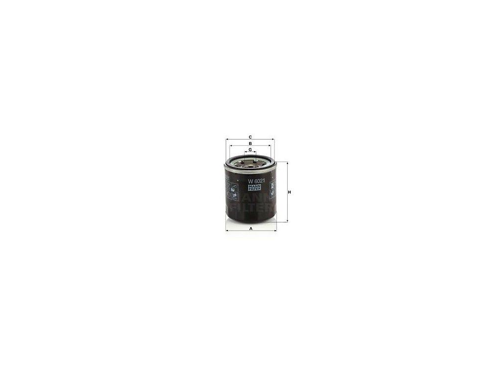 Olejový filtr MANN-FILTER W 6021