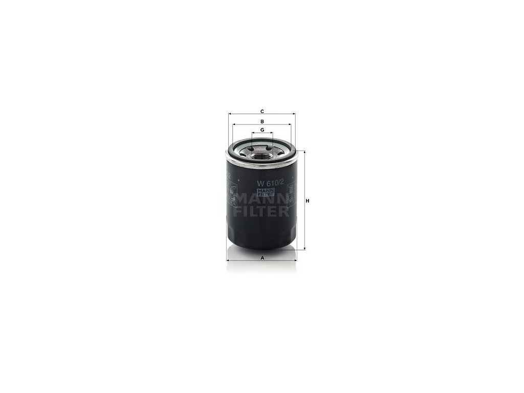 Olejový filtr MANN-FILTER W 610/2