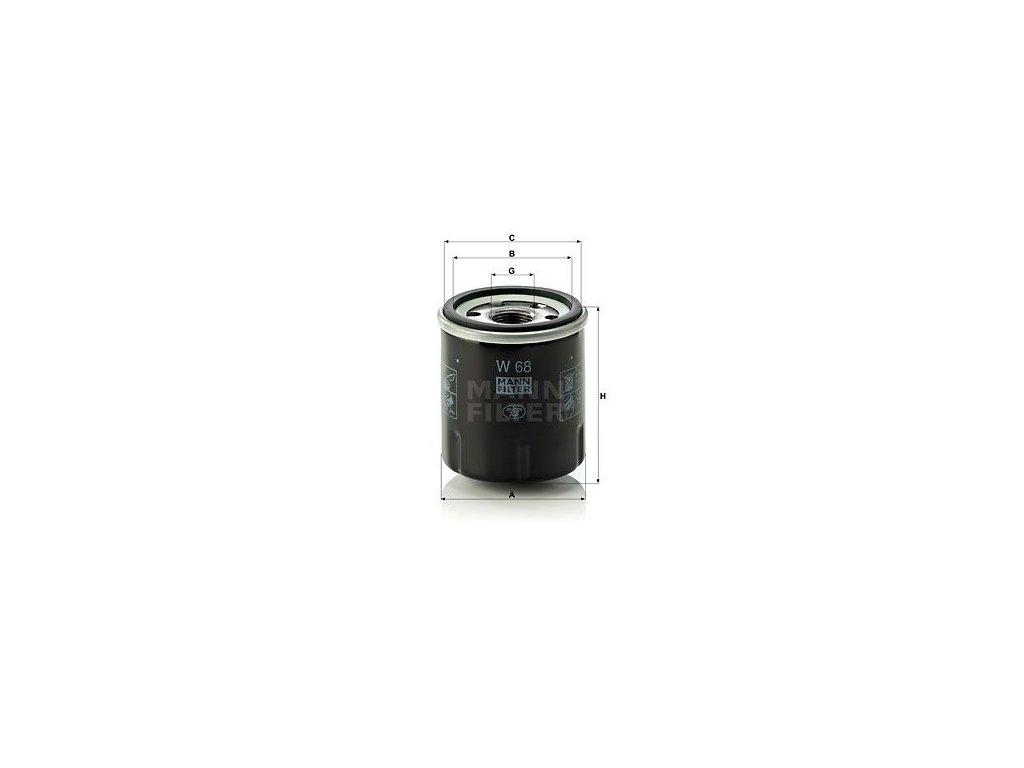 Olejový filtr MANN-FILTER W 68