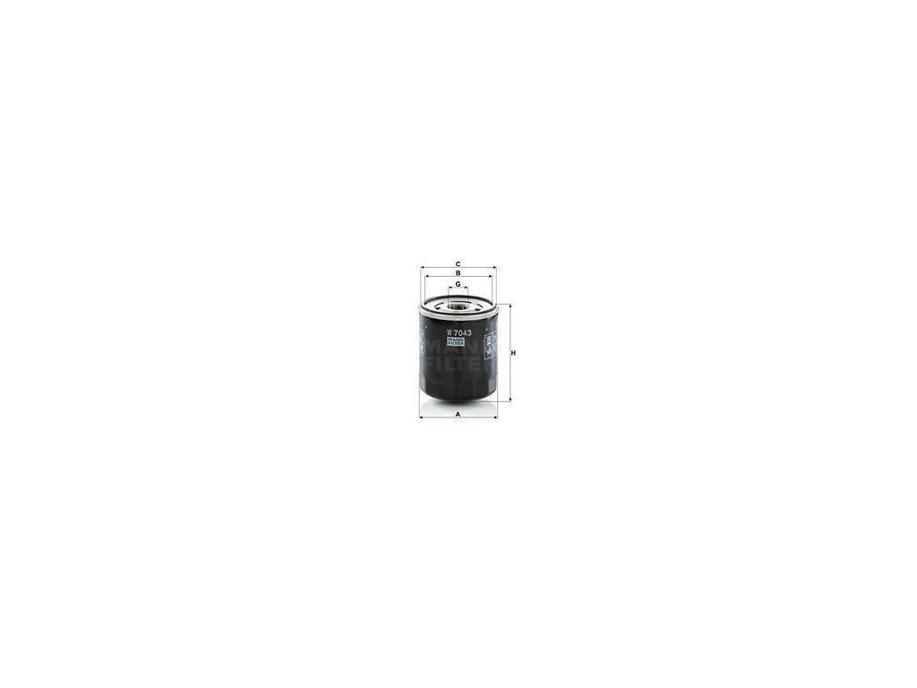 Olejový filtr MANN-FILTER W 7043