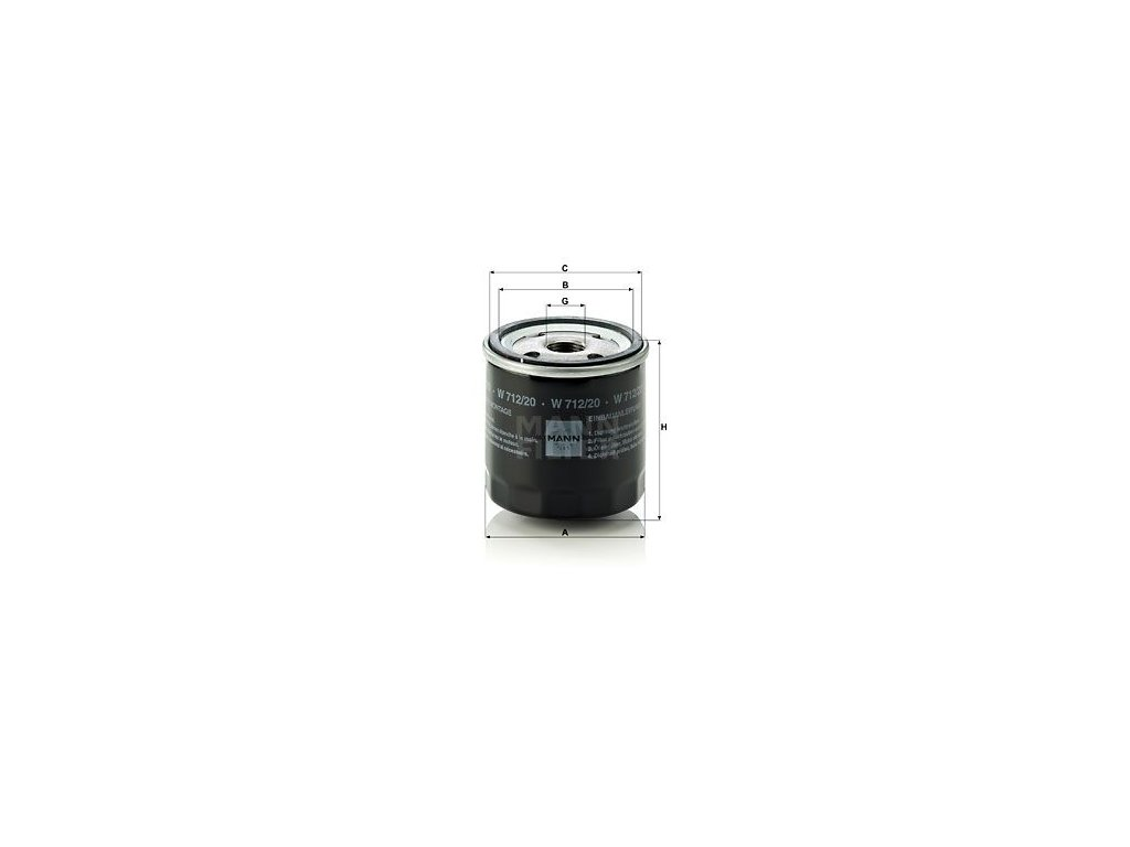 Olejový filtr MANN-FILTER W 712/20