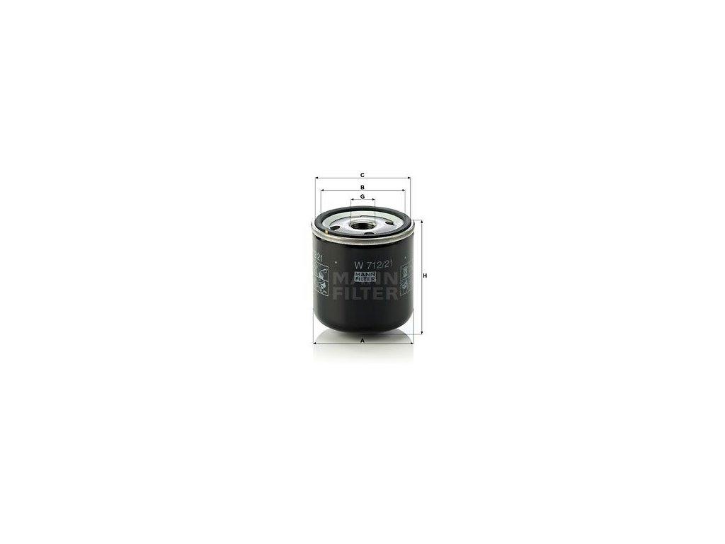 Olejový filtr MANN-FILTER W 712/21