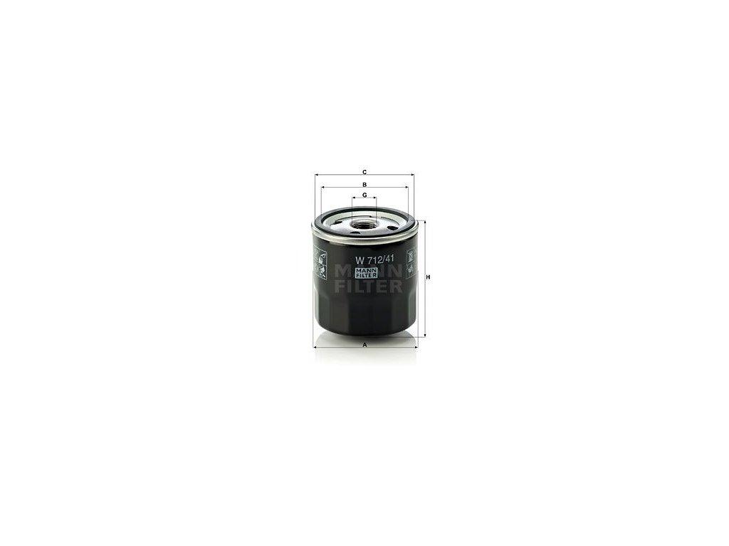 Olejový filtr MANN-FILTER W 712/41