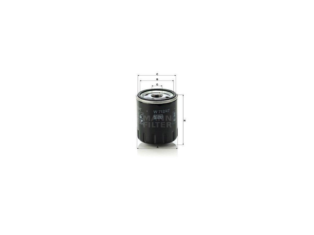 Olejový filtr MANN-FILTER W 712/47