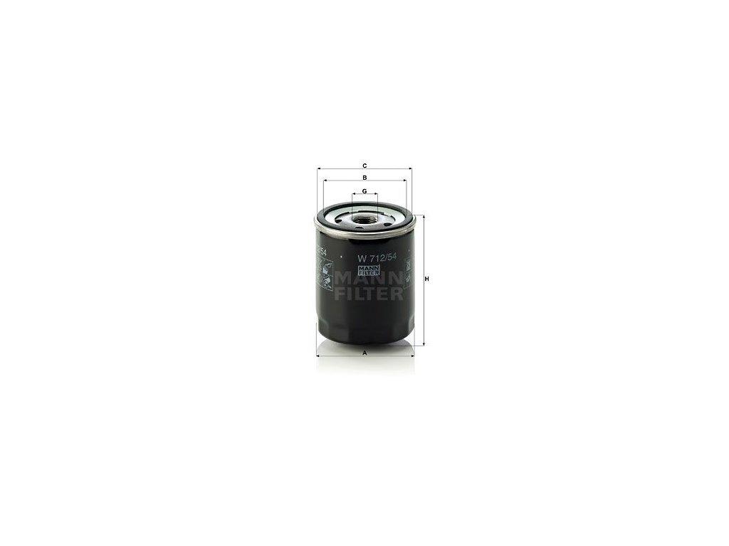 Olejový filtr MANN-FILTER W 712/54