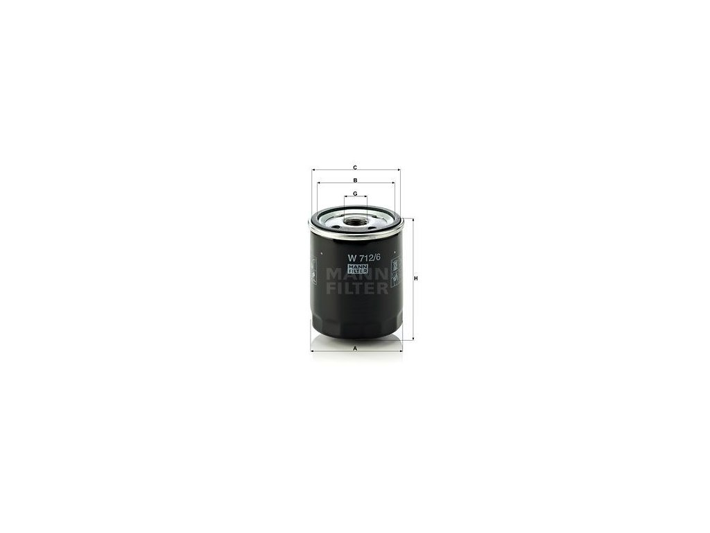 Olejový filtr MANN-FILTER W 712/6