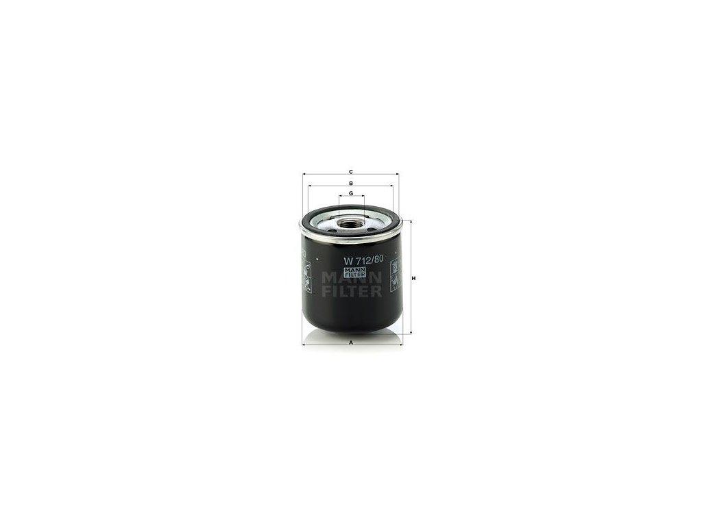 Olejový filtr MANN-FILTER W 712/80