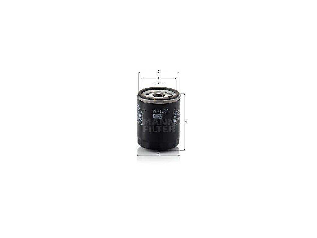 Olejový filtr MANN-FILTER W 712/82