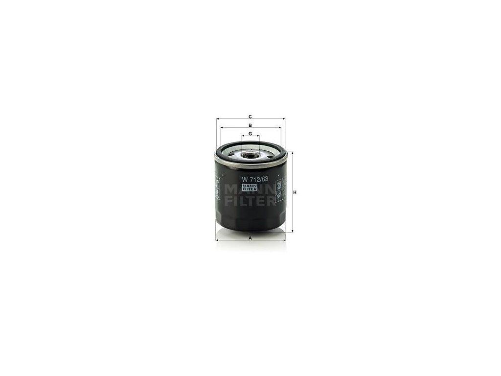 Olejový filtr MANN-FILTER W 712/83