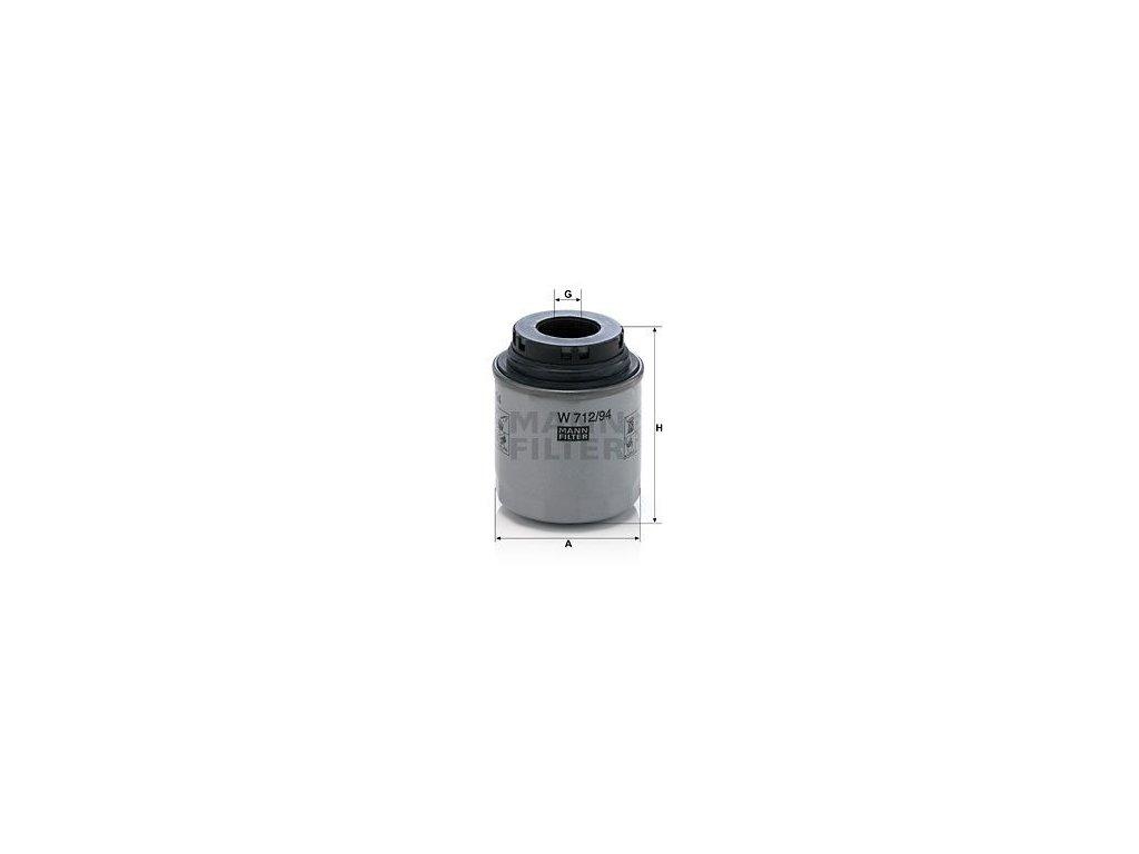 Olejový filtr MANN-FILTER W 712/94