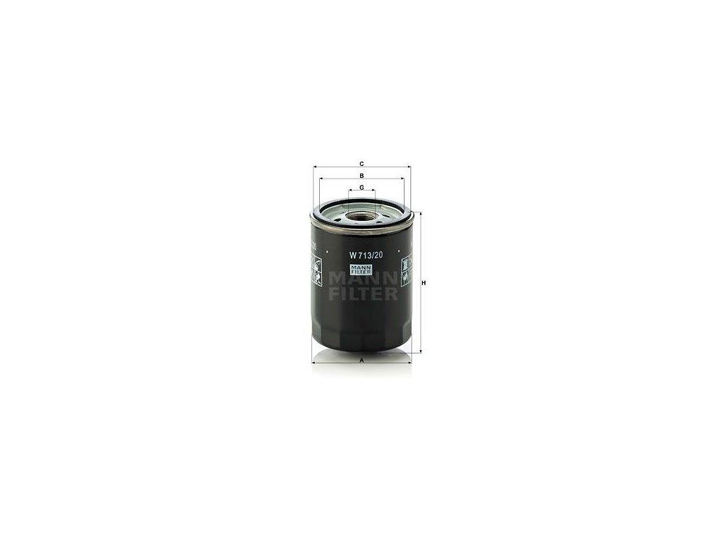 Olejový filtr MANN-FILTER W 713/20