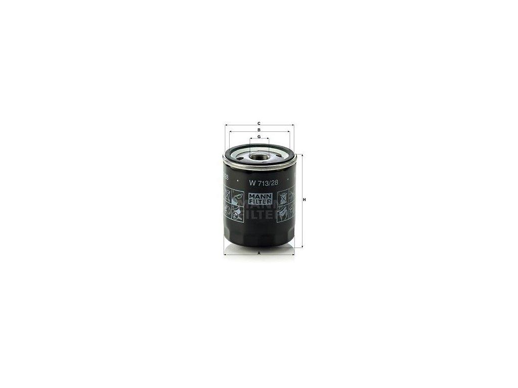 Olejový filtr MANN-FILTER W 713/28