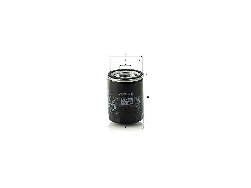 Olejový filtr MANN-FILTER W 713/29