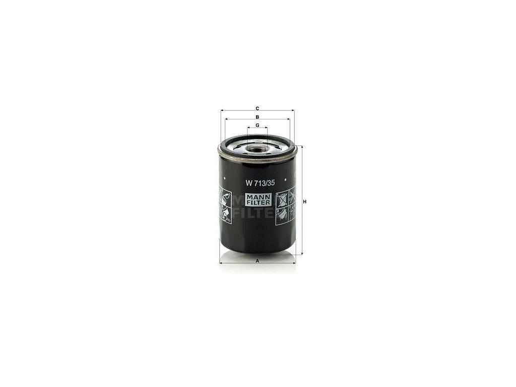 Olejový filtr MANN-FILTER W 713/35