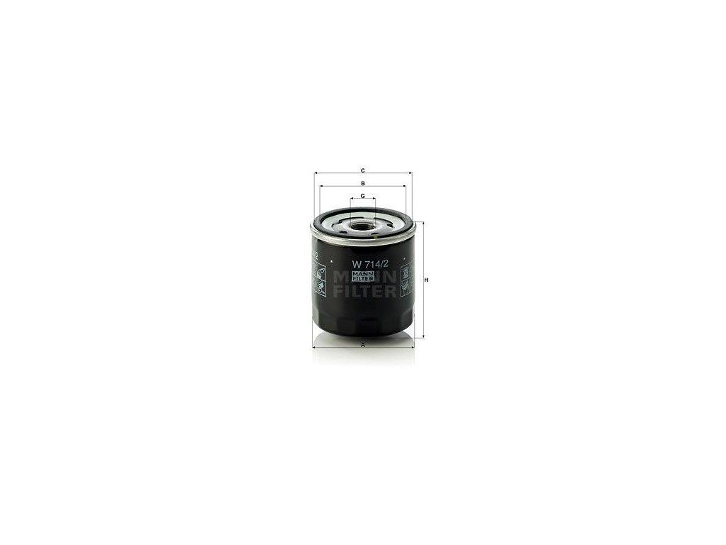 Olejový filtr MANN-FILTER W 714/2
