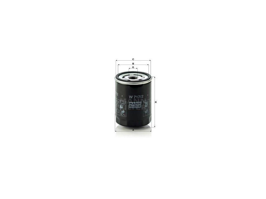 Olejový filtr MANN-FILTER W 717/2