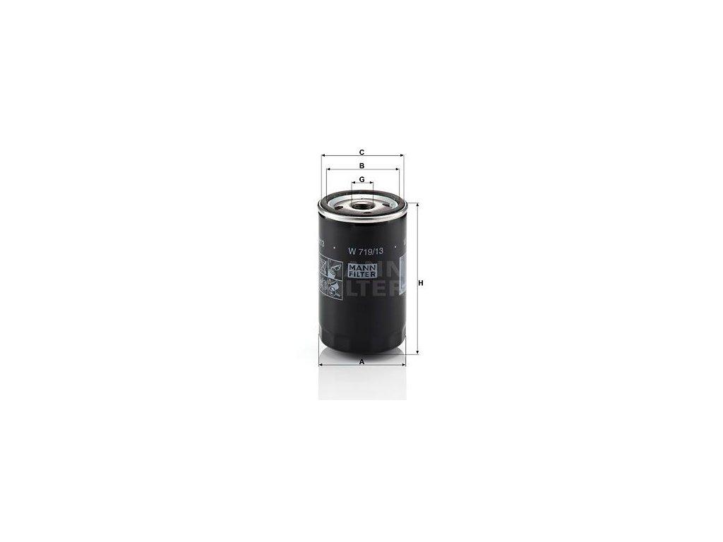 Olejový filtr MANN-FILTER W 719/13