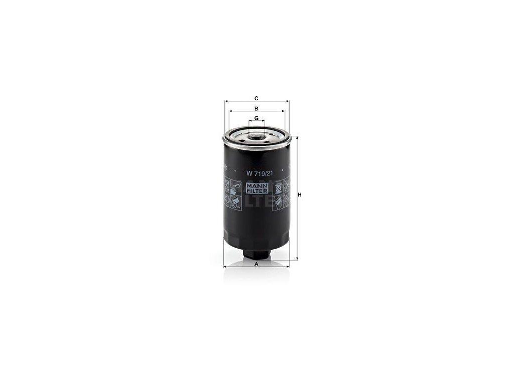 Olejový filtr MANN-FILTER W 719/21