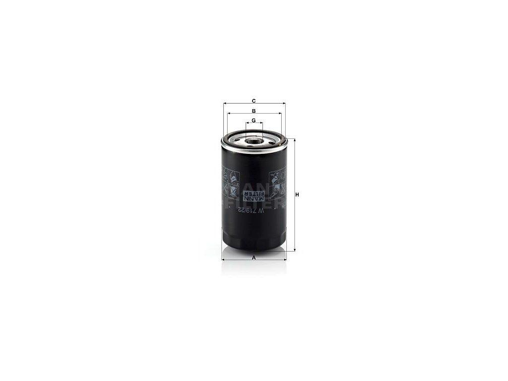 Olejový filtr MANN-FILTER W 719/22
