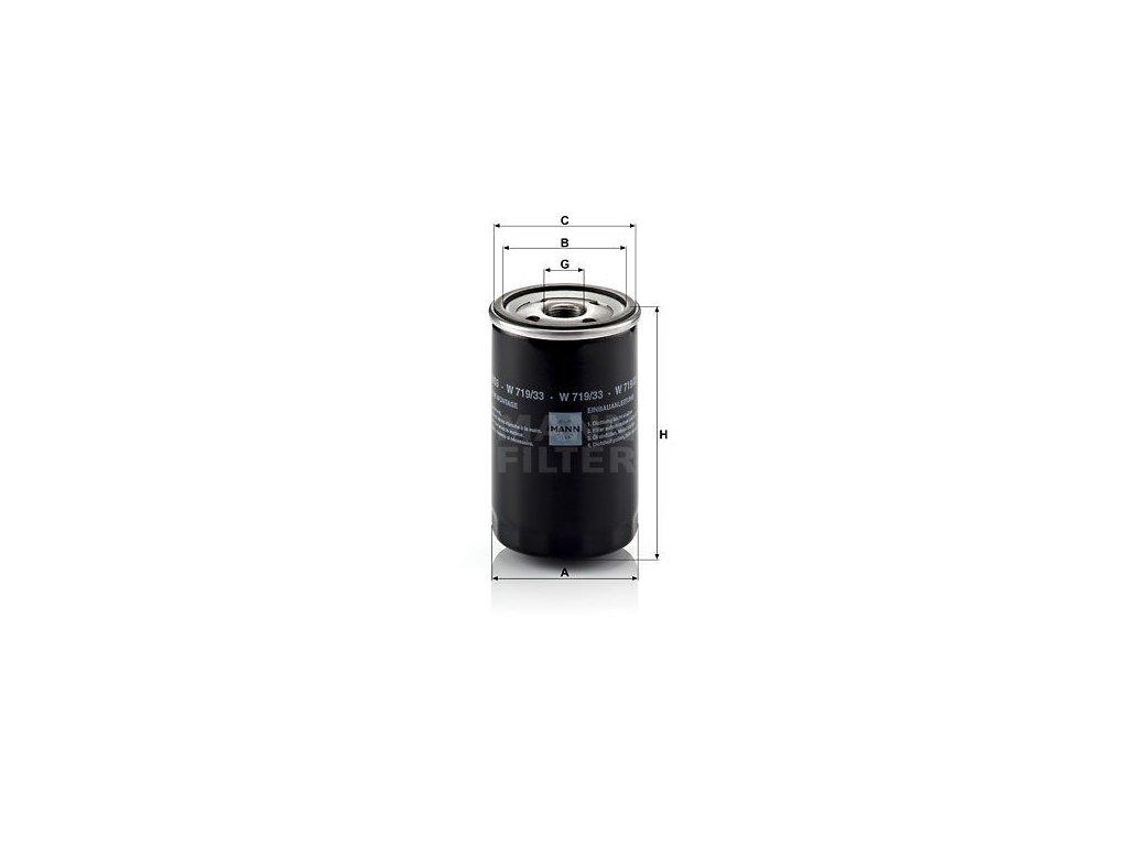 Olejový filtr MANN-FILTER W 719/33