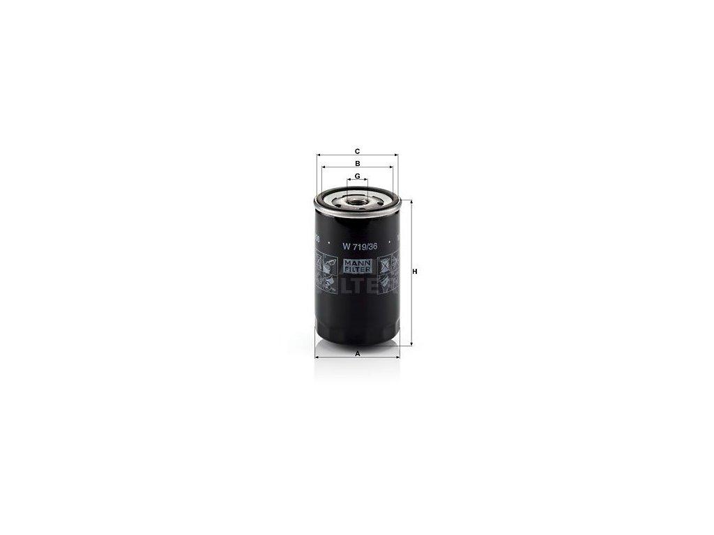 Olejový filtr MANN-FILTER W 719/36