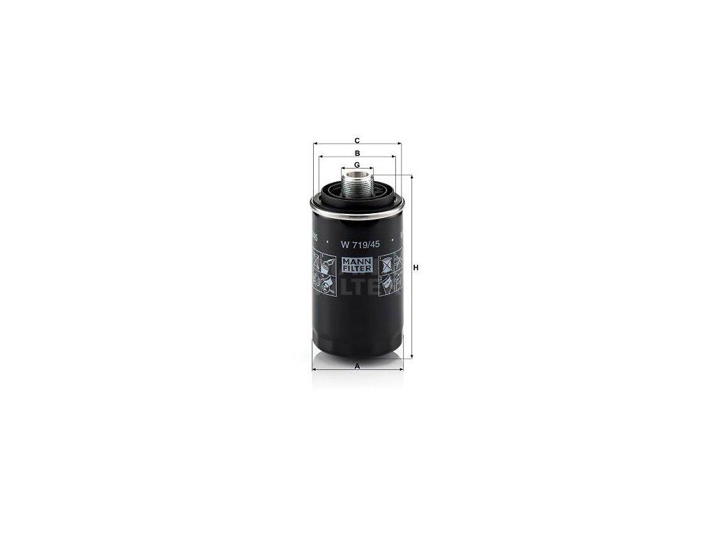 Olejový filtr MANN-FILTER W 719/45