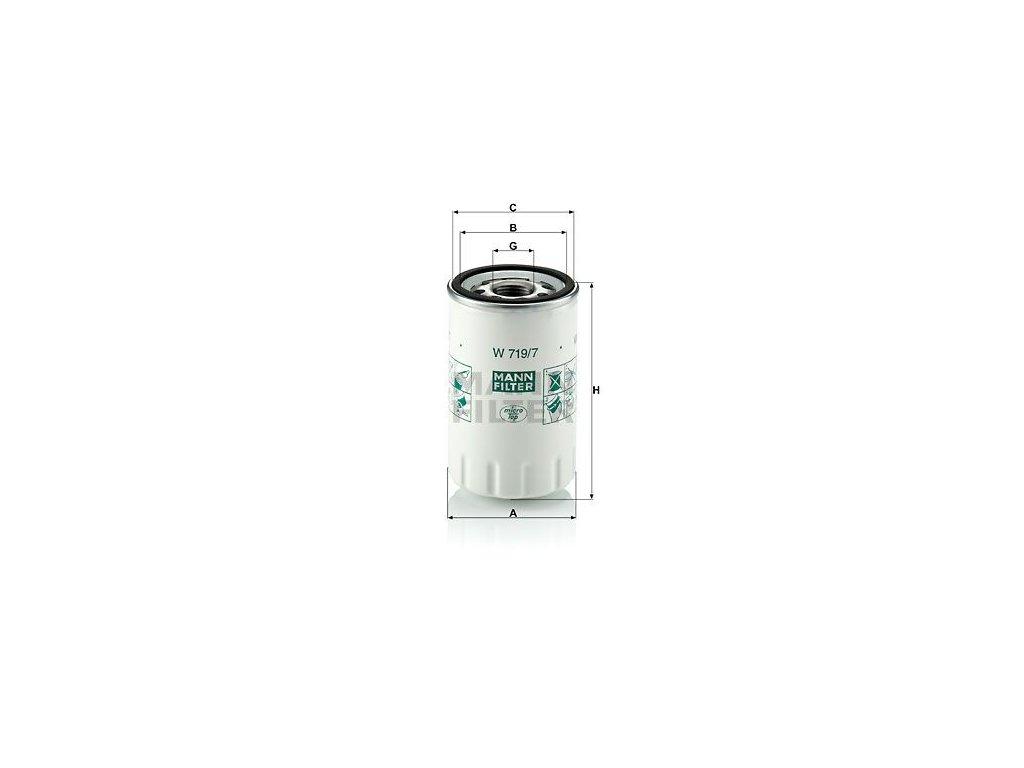 Olejový filtr MANN-FILTER W 719/7