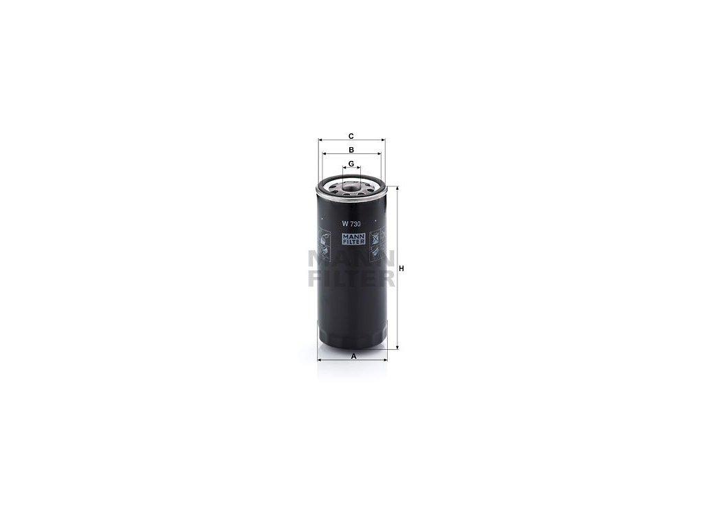 Olejový filtr MANN-FILTER W 730