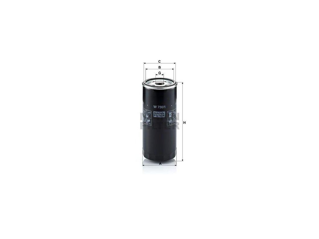 Olejový filtr MANN-FILTER W 730/1
