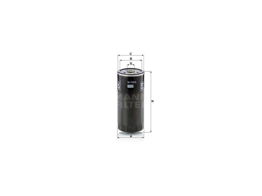 Olejový filtr MANN-FILTER W 730/3