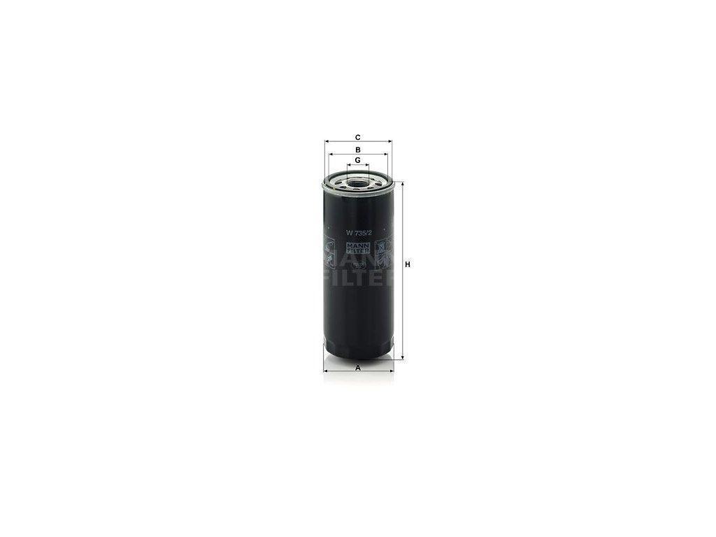 Olejový filtr MANN-FILTER W 735/2
