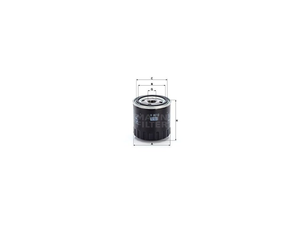 Olejový filtr MANN-FILTER W 8013