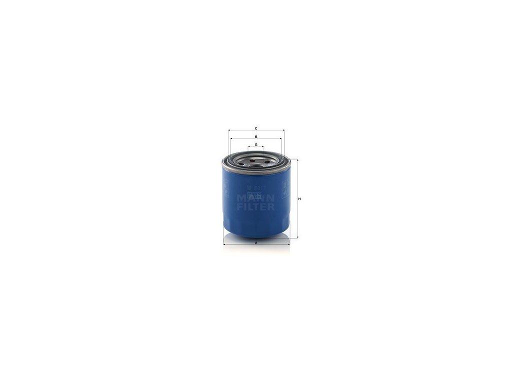 Olejový filtr MANN-FILTER W 8017