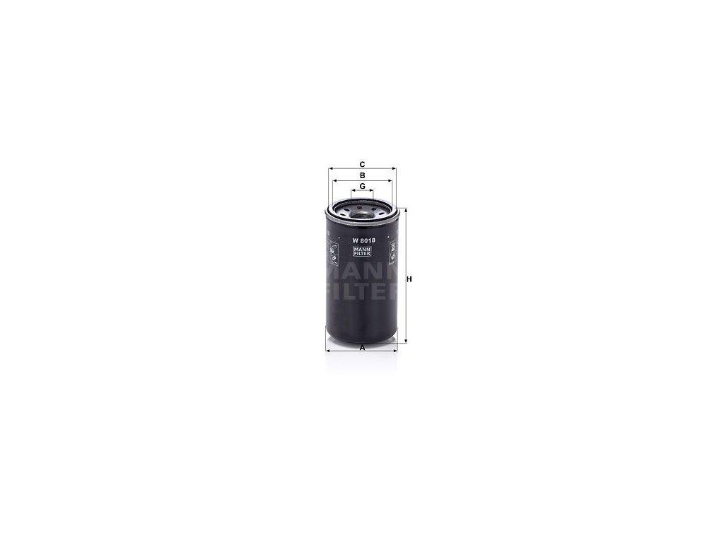 Olejový filtr MANN-FILTER W 8018