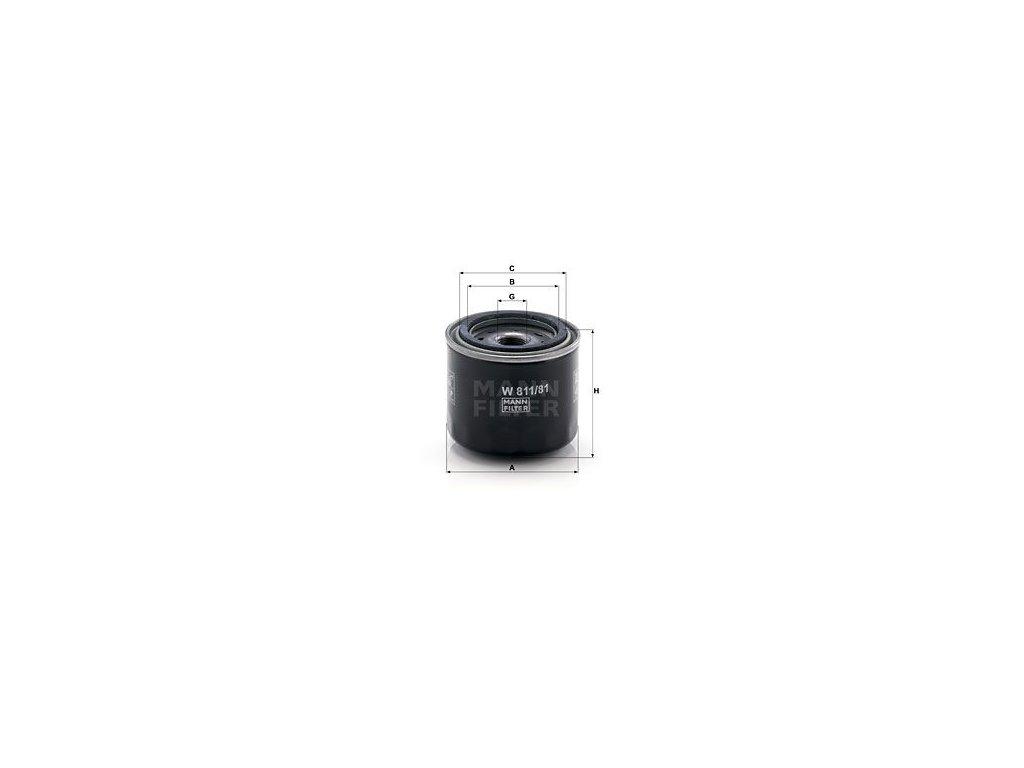 Olejový filtr MANN-FILTER W 811/81