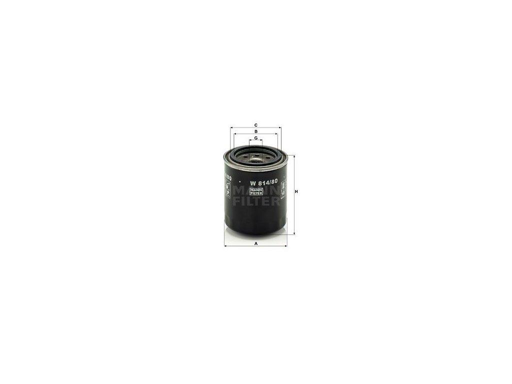 Olejový filtr MANN-FILTER W 814/80