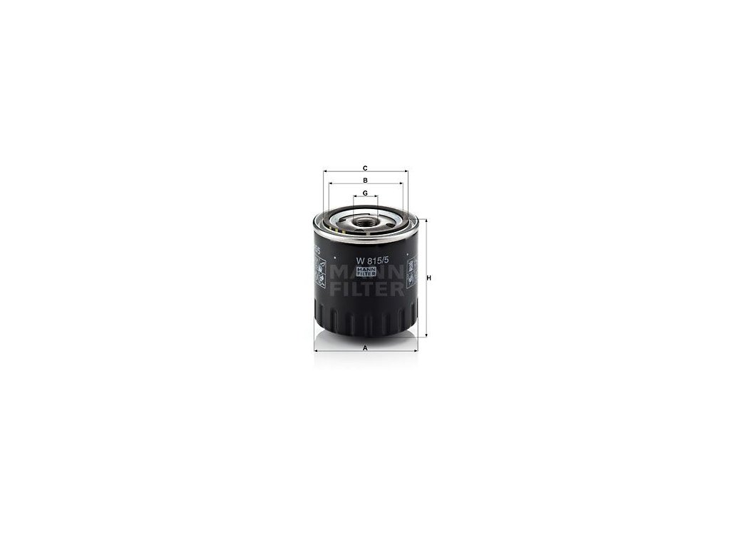 Olejový filtr MANN-FILTER W 815/5