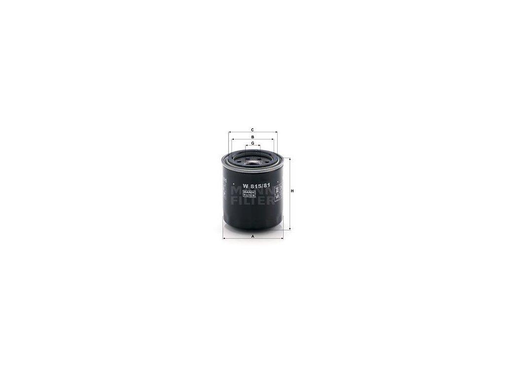 Olejový filtr MANN-FILTER W 815/81