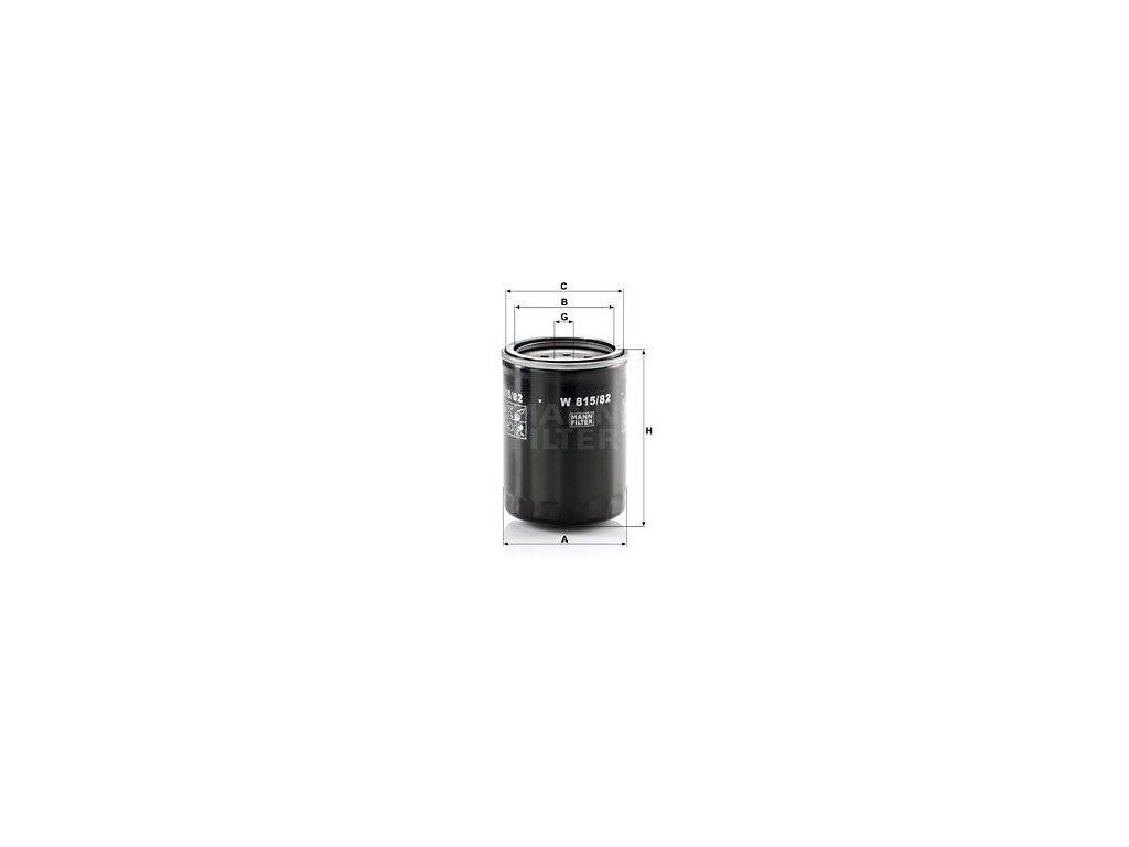 Olejový filtr MANN-FILTER W 815/82