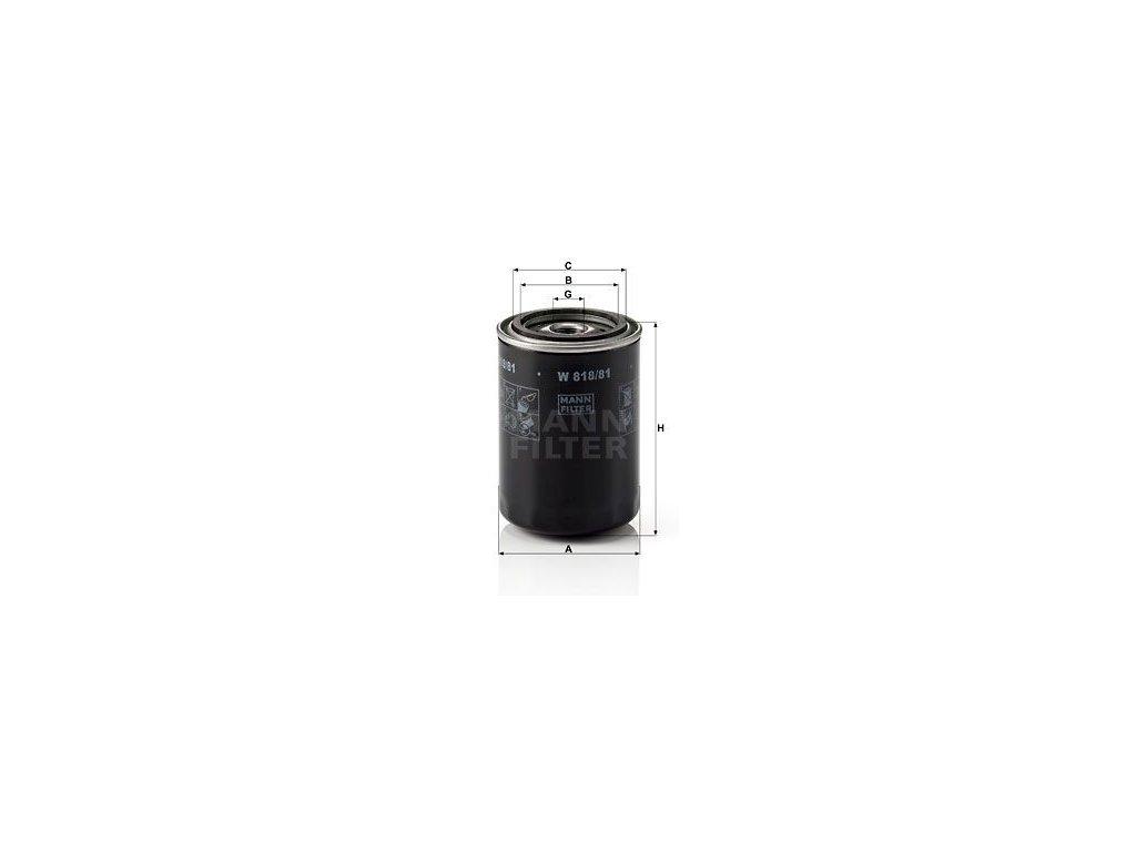 Olejový filtr MANN-FILTER W 818/81