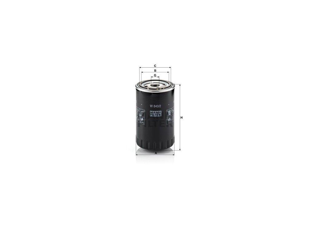 Olejový filtr MANN-FILTER W 840/2