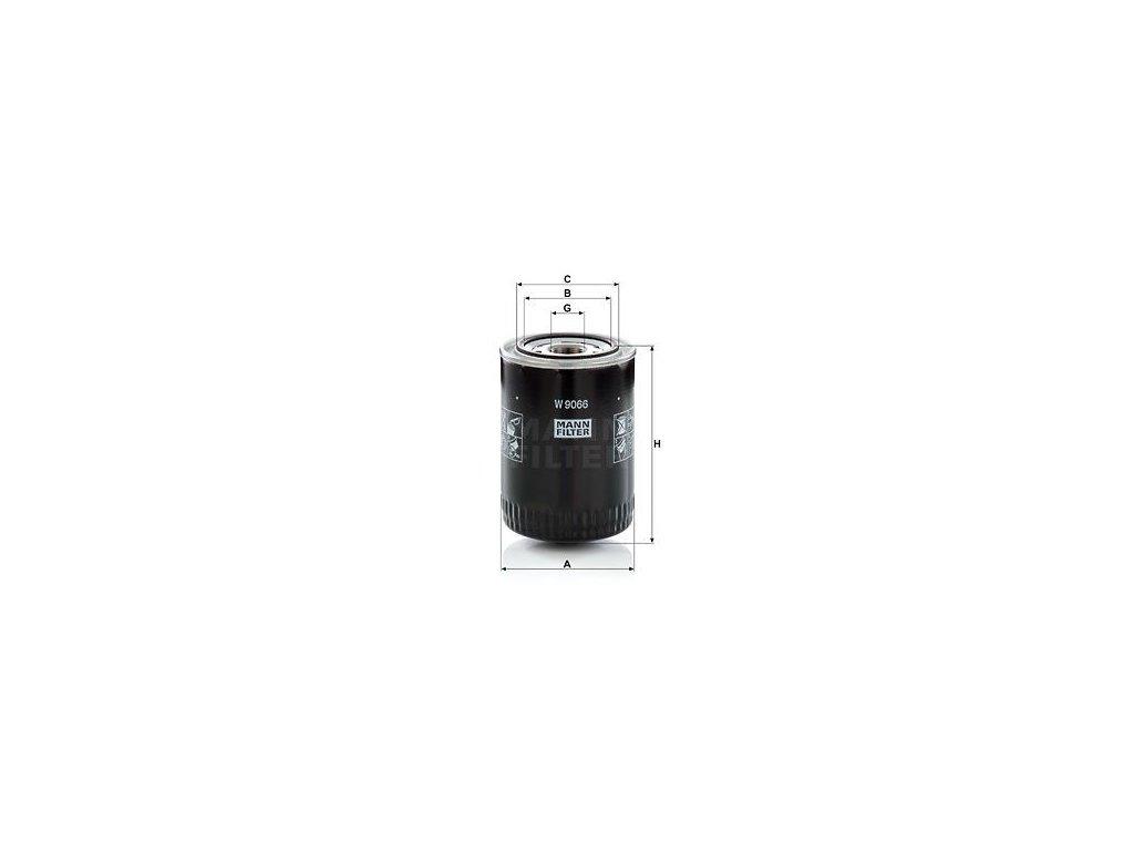 Olejový filtr MANN-FILTER W 9066