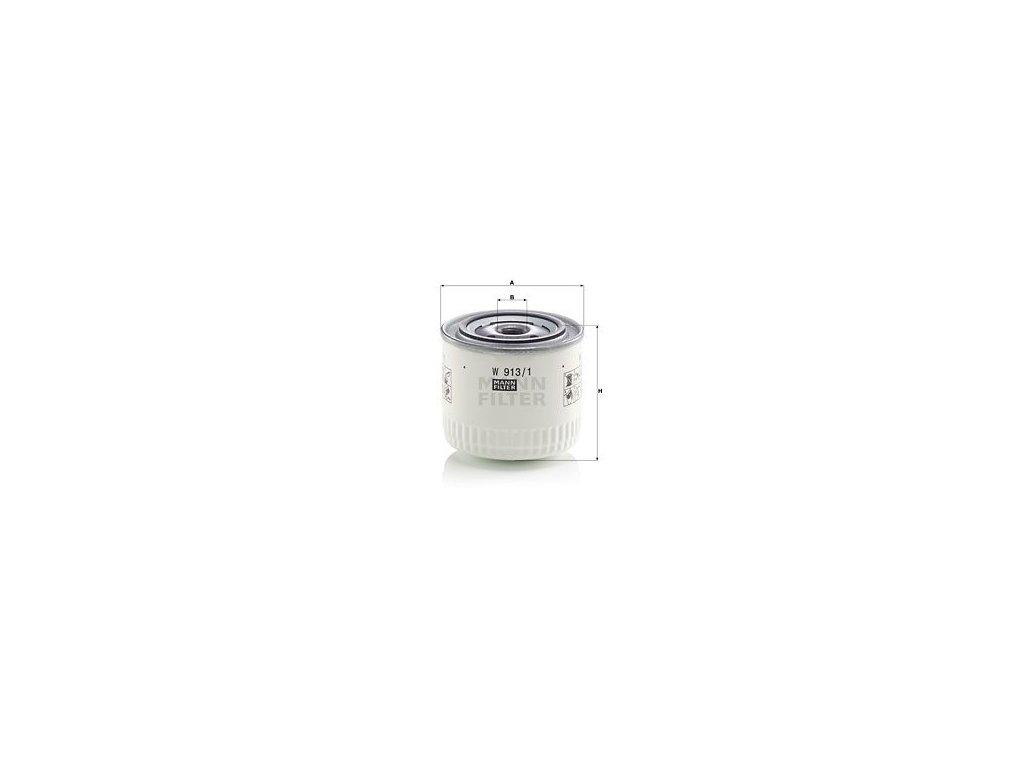 Olejový filtr MANN-FILTER W 913/1