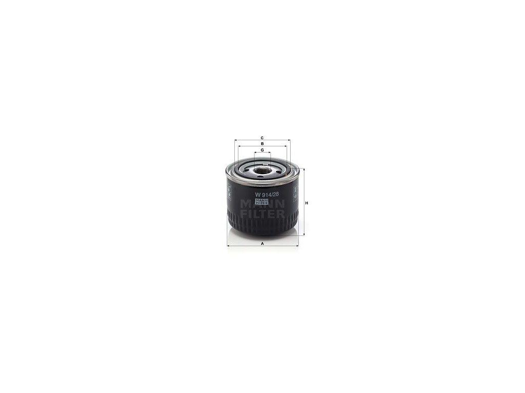 Olejový filtr MANN-FILTER W 914/28