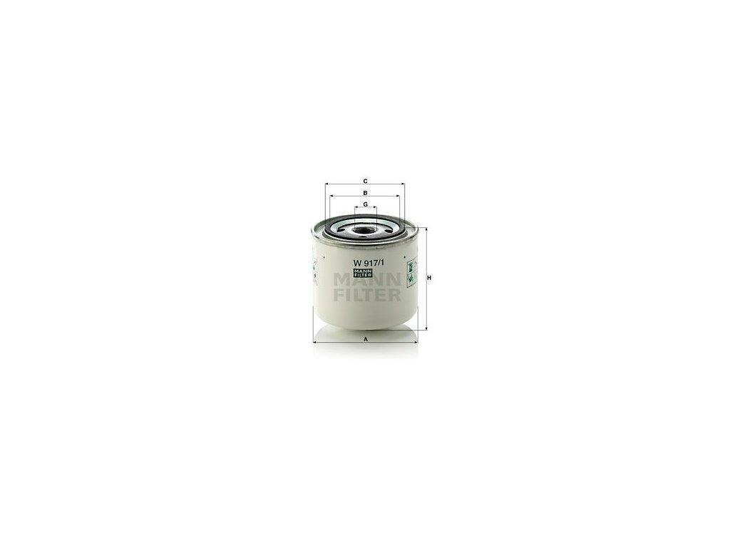 Olejový filtr MANN-FILTER W 917/1